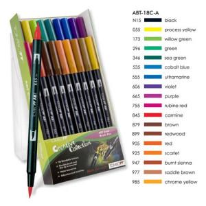 Rotulador Tombow, Set de 18 Colores Primarios