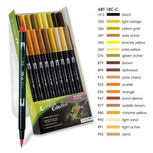 Rotulador Tombow, Set de 18 Colores Tierra