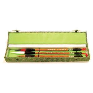 Totenart-Estuche 3 pinceles mango bambu diferentes pelos