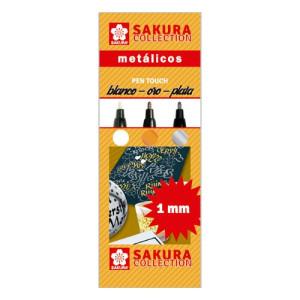 totenart-Set 3 rotuladores Pen Touch metálicos Sakura