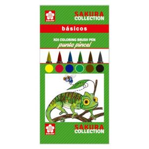 totenart-Set 6 rotuladores BASICOS Koi Coloring Sakura punta pincel