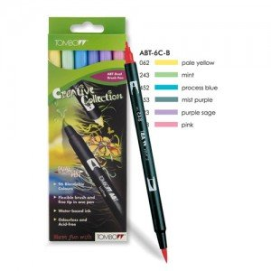 Rotulador Tombow,  Set de 6 Colores Pasteles