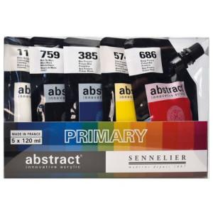 Set Abstract Primary, 5 colores primarios, 120 ml. Sennelier