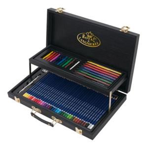 Set de dibujo Black Series Caja Madera (59 piezas), Royal&Langnickel