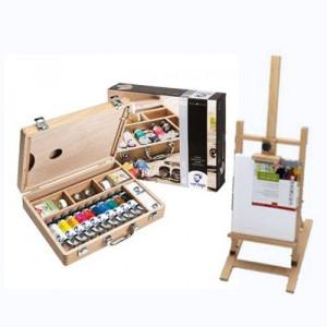 Set de regalo óleo Van Gogh: maleta, caballete y lienzo