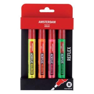totenart-Rotuladores acrílicos Amsterdam, set Reflex Pack (4 colores)
