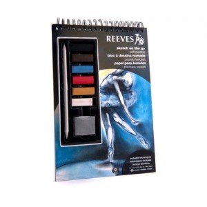 Totenart-Set Pastel suave Reeves Sketch On the Go. Block, pasteles y difumino