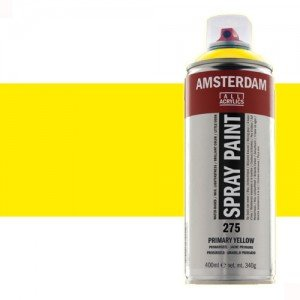 Totenart - Acrílico en spray Amarillo Primario 275 Amsterdam 400 ml.