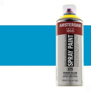 Totenart - Acrílico en spray Azul Cyan Primario 572 Amsterdam 400 ml.