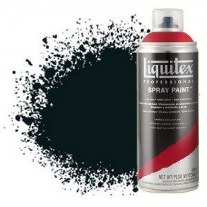 totenart-Pintura en Spray Negro carbón 0337, Liquitex acrílico, 400 ml.