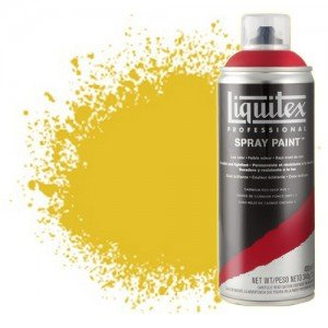 totenart-Pintura en Spray Amarillo cadmio medio 0830, Liquitex acrílico, 400 ml.