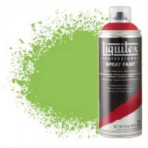totenart-Pintura en Spray Amarillo Verde Brillante 0840, Liquitex acrílico, 400 ml.
