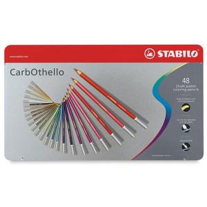 totenart - STABILO Carbothello Caja metal 48 colores lápices pastel surtidos