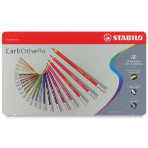 totenart- STABILO Carbothello Caja metal 60 colores lápices pastel surtidos