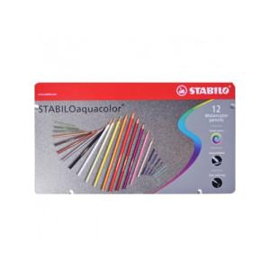 totenart - STABILO Oaquacolor Caja metal 12 lápices colores acuarelables surtidos