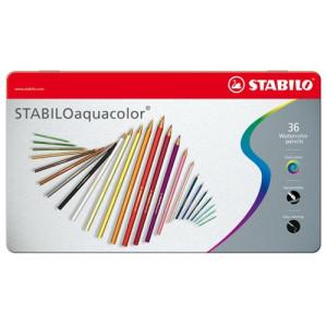 totenart - STABILO Oaquacolor Caja metal 36 lápices colores acuarelables surtidos