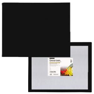 Tablilla entelada negra con preparación universal (20x20 cm)