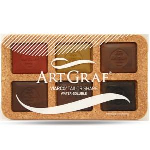 totenart-ART GRAF Tailor Shape Caja Corcho Surtido de 6 Colores.