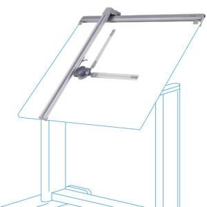 Tecnígrafo de aluminio, 100x170 cm.