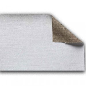 totenart-Tela 100% lino L3 imprimado, 440 gr, Gr. grueso, rollo (2,10x10 m)