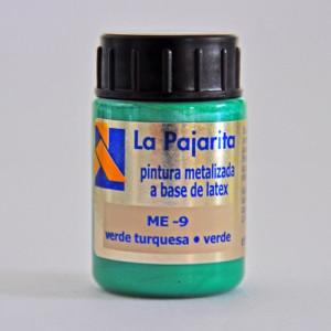 totenart-tempera-gouache-satinada-pajarita-metalizada-verde-turquesa-bote-35-ml