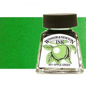 totenart-tinta-china-dibujo-winsor-newton-color-verde-brillante-frasco-14-ml