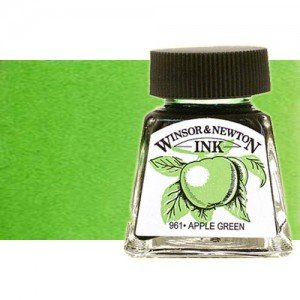 totenart-tinta-china-dibujo-winsor-newton-color-verde-manzana-frasco-14-ml
