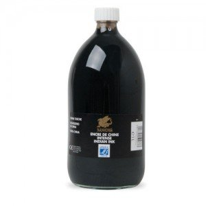 Tinta China Negra Lefranc, frasco 250 ml.