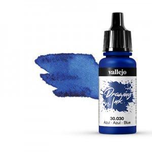 Tinta Dibujo Permanente Vallejo Azul , 17 ml.