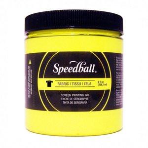 Tinta serigrafia al agua Amarillo Fluor. 236 ml. Speedball