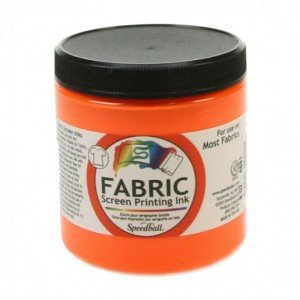 totenart-tinta-serigrafia-speedball-al-agua-bote-236-ml-color-naranja-fluorescente