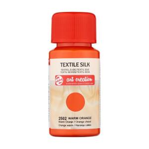 Tinta Textil Seda Naranja Cálido 2502, 50 ml. ArtCreation