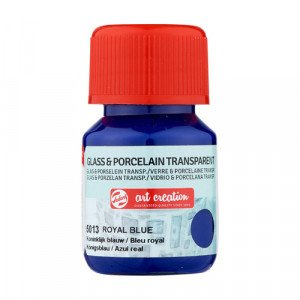 Tinta Transparente Vidrio y Porcelana Azul Real 5013, 30 ml. ArtCreation