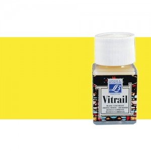 Totenart. Pintura Cristal Amarillo Vitrail Lefranc, 50 ml.