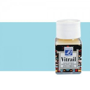 Totenart. Pintura Cristal Azul cielo Vitrail Lefranc, 50 ml.