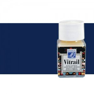 Totenart. Pintura Cristal Azul profundo Vitrail Lefranc, 50 ml.