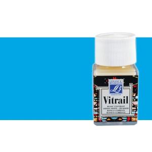 Totenart. Pintura Cristal Azul Vitrail Lefranc, 50 ml.