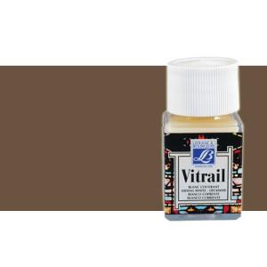 Totenart. Pintura Cristal Marron oscuro Vitrail Lefranc, 50 ml.
