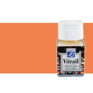 Totenart. Pintura Cristal Naranja Vitrail Lefranc, 50 ml.