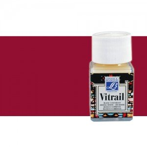 Totenart. Pintura Cristal Rojo profundo Vitrail Lefranc, 50 ml.