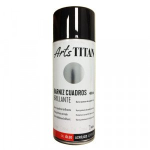 Barniz brillante Titan en spray para cuadros (400 ml)