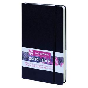 totenart-Bloc de Esbozo negro, 13x21, banda elastica, 80 h, 160 gr.