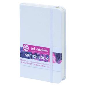 totenart-Bloc de Esbozo blanco, 9x14, banda elastica, 80 h, 160 gr.