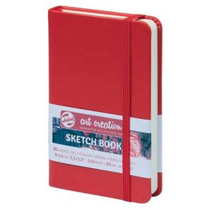 totenart-Bloc de Esbozo rojo, 9x14, banda elastica, 80 h, 160 gr.