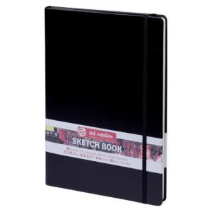 Bloc de Esbozo negro, A4, banda elastica, 80 h, 140 gr.