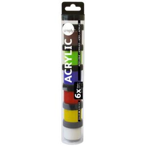 Estuche acrílico 6 colores (18 ml), Simply, Daler Rowney
