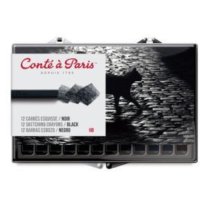 totentart-caja-carres-conte-12-uds-negro