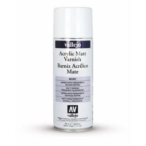 Barniz acrílico mate Vallejo en spray (400 ml)
