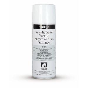 Barniz acrílico satinado Vallejo en spray (400 ml)