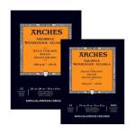 Acuarela Arches 300 gr, 26x36 cm, G. Grueso, block 12 h.